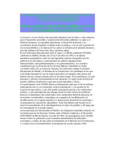 DECLARACION DE DUBLIN SOBRE EL AGUA Y EL DESARROLLO SOSTENIBLE
