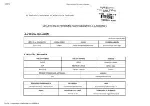 DECLARACION DE PATRIMONIO PARA FUNCIONARIOS Y AUTORIDADES