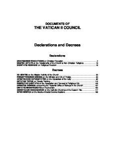 Declarations and Decrees