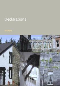 Declarations CHAPTER 4