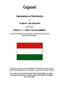Declarations of Conformity