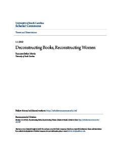 Deconstructing Books, Reconstructing Women