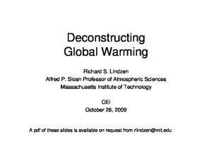 Deconstructing Global Warming