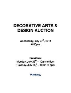 DECORATIVE ARTS & DESIGN AUCTION