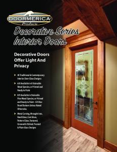 Decorative Series Interior Doors