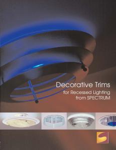 Decorative Trims. for Recessed Lighting from SPECTRUM
