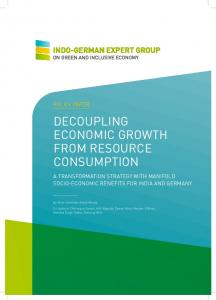 DECOUPLING ECONOMIC GROWTH FROM RESOURCE CONSUMPTION