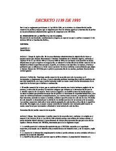 DECRETO 1139 DE 1995
