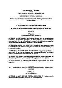 DECRETO 1211 DE 1990 (junio 8) Diario Oficial No , de 8 de junio de 1990