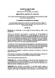 DECRETO 1232 DE 2001 (junio 20) Diario Oficial , de 29 de junio de 2001