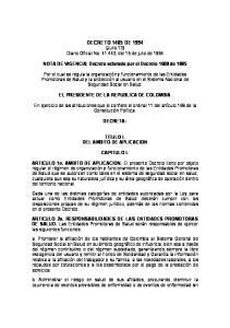 DECRETO 1485 DE 1994 (Julio 13) Diario Oficial No , del 15 de julio de 1994