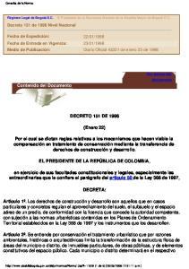 DECRETO 151 DE (Enero 22)