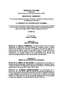 DECRETO 171 DE 2001 (febrero 5) Diario Oficial No , de 5 de febrero de 2001