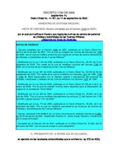DECRETO 1790 DE 2000 (septiembre 14) Diario Oficial No , de 14 de septiembre de 2000