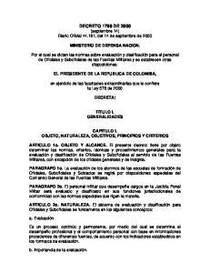 DECRETO 1799 DE 2000 (septiembre 14) Diario Oficial , del 14 de septiembre de 2000
