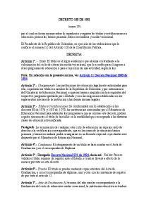 DECRETO 180 DE (enero 29)