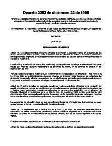 Decreto 2253 de diciembre 22 de 1995