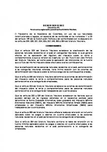 DECRETO 3032 DE 2013 (Diciembre 27) Por el cual se reglamenta parcialmente el Estatuto Tributario