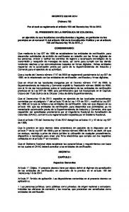 DECRETO 333 DE (Febrero 19) Por el cual se reglamenta el artículo 160 del Decreto-ley 19 de EL PRESIDENTE DE LA REPÚBLICA DE COLOMBIA,