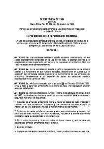 DECRETO 855 DE 1994 (abril 28) Diario Oficial No , del 29 de abril de 1994