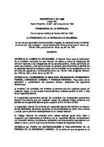 DECRETO 917 DE 1999 (mayo 28) Diario Oficial No , del 9 de junio de 1999
