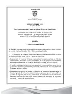 DECRETO 991 DE de Abril de Por el cual se reglamenta la Ley 19 de 1990 y se dictan otras disposiciones