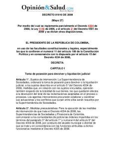 DECRETO DE (Mayo 27)