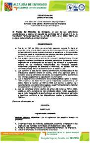 DECRETO No 064 (Enero 24 de 2008)