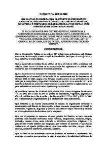 DECRETO No DE 2005