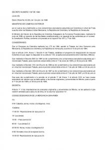 DECRETO NUMERO 1197 DE (Junio 26) Diario Oficial No , de 1 de julio de 1998 MINISTERIO DE COMERCIO EXTERIOR
