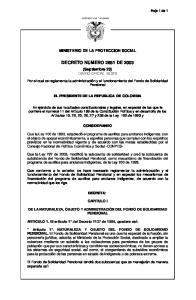 DECRETO NUMERO 2681 DE 2003