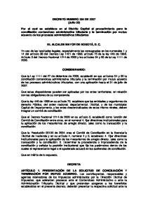 DECRETO NUMERO 284 DE 2007 (Julio 05)