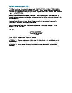 Decreto Reglamentario Nº 1331