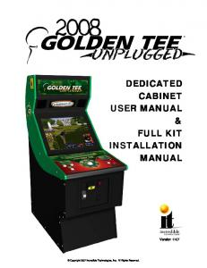 DEDICATED CABINET USER MANUAL & FULL KIT INSTALLATION MANUAL
