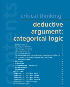 deductive argument: categorical logic