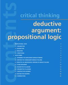 deductive argument: propositional logic