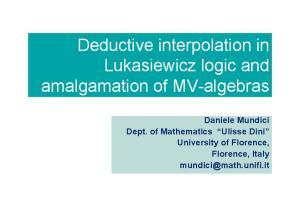 Deductive interpolation in Lukasiewicz logic and amalgamation of MV-algebras