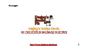 Deejay s Recipe Cards 92 Delicious Sausage Recipes