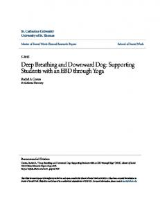 Deep Breathing and Downward Dog: Supporting Students with an EBD through Yoga