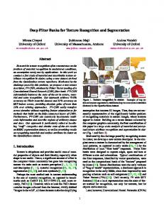Deep Filter Banks for Texture Recognition and Segmentation