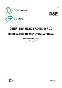 DEEP SEA ELECTRONICS PLC