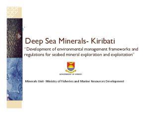 Deep Sea Minerals- Kiribati