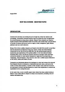 DEEP-SEA MINING - BRIEFING PAPER
