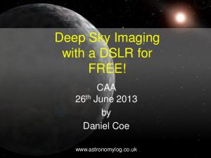 Deep Sky Imaging with a DSLR for FREE!