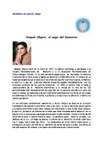 Deepak Chopra, el mago del bienestar
