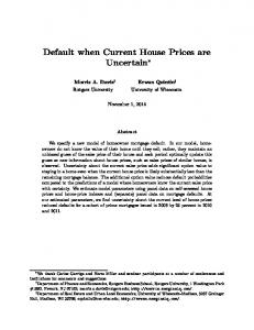 Default when Current House Prices are Uncertain
