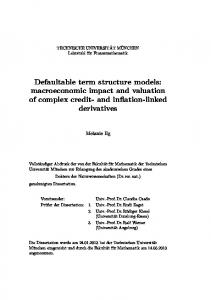 Defaultable term structure models: macroeconomic impact and valuation of complex credit- and inflation-linked derivatives