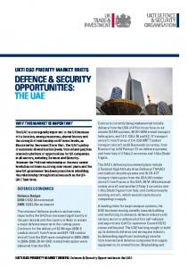 DEFENCE & SECURITY OPPORTUNITIES: THE UAE