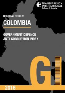 Defence & Security REGIONAL RESULTS COLOMBIA GOVERNMENT DEFENCE ANTI-CORRUPTION INDEX