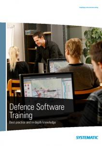 Defence Software Training Best practice and in-depth knowledge
